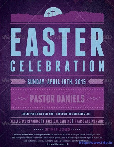 35 Best Easter Church Flyer Print Templates 2018 Pinterest Flyer