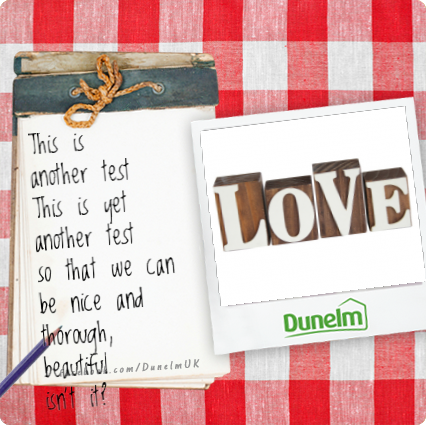 Show someone you care by sending a note saying which Dunelm product you think they'd love.