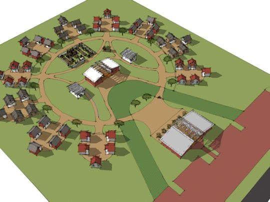 Image Result For Tiny Home Community Logo Tiny House Village Tiny House Community Resort Design