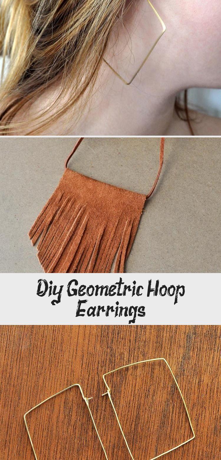 Diy Geometric Hoop Earrings  Jewellery  DIY Geometric Hoop Earrings  Made in a Day