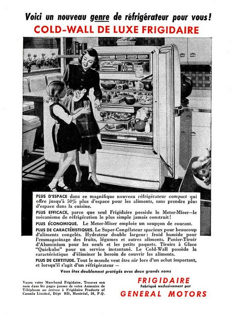 Vintage French Canadian Ad For Frigidaire Appliances 1948