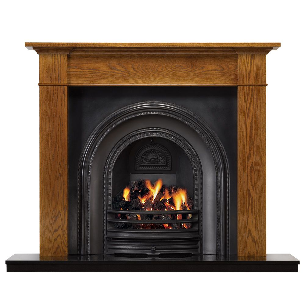 The brompton wood mantel is available in a choice of materials and