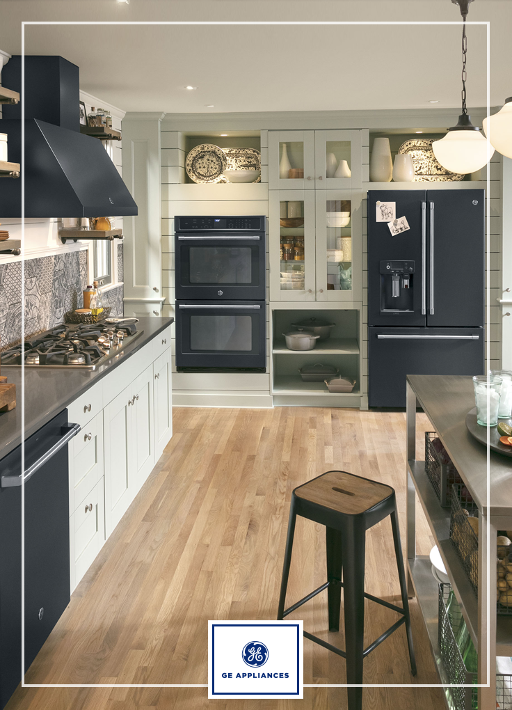 Biack Slate Is An Extension Of The Highly Sought After Slate Finish Family From Ge Appliances Black Appliances Kitchen Slate Appliances Kitchen Kitchen Design