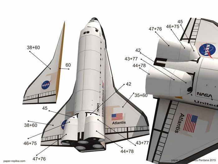 atlantis space shuttle papercraft - photo #4