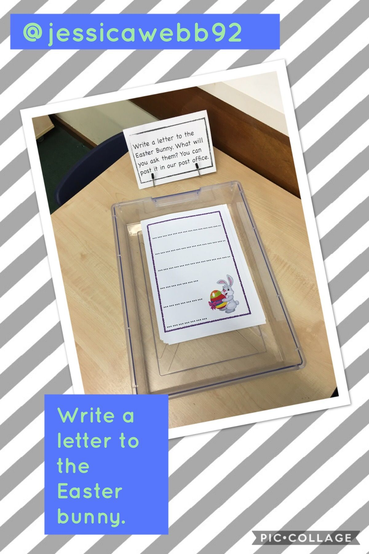 Writing Letters To The Easter Bunny
