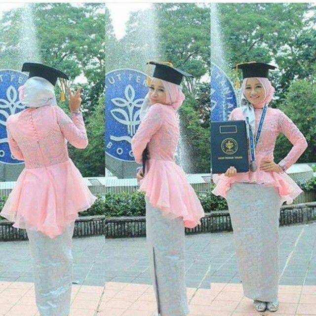 Kebaya Muslim Modern Untuk Wisuda Baju Wisuda Kebaya Dan Model