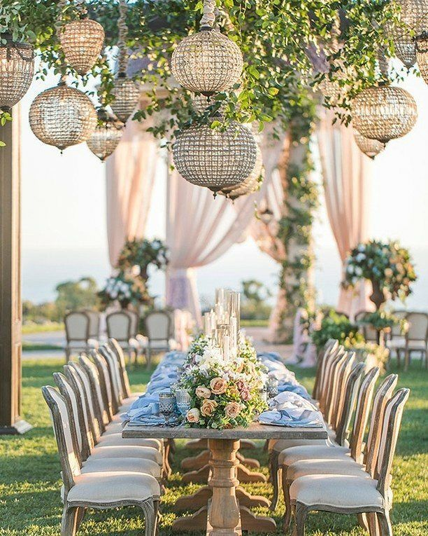 Beautiful And Chic Outdoor Wedding #outdoorwedding