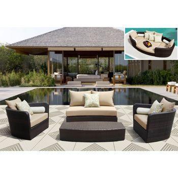 Sirio Venice 4-piece Modular Deep Seating Lounge Set ...