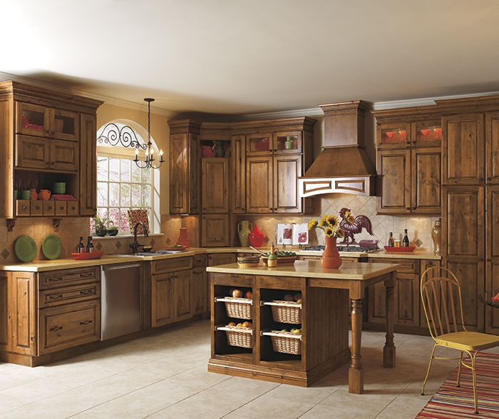 Turn Heads Every Time With A Kitchen Swathed In Charisma You Can Count On A Rustic Kitchen To E Alder Kitchen Cabinets Menards Kitchen Cabinets Rustic Kitchen