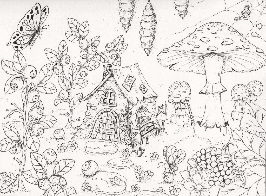 Little Fairy House With Good Smell Cake Cute Coloring Pages