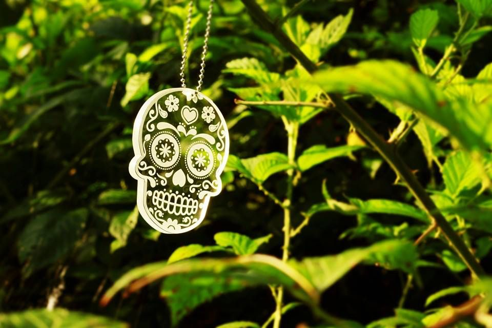 Day of the Dead keychain.  I bought a couple of these and I'm going to put one on a longer chain and make it into a necklace for next Halloween. Useful Craft / Paul Riney Designs