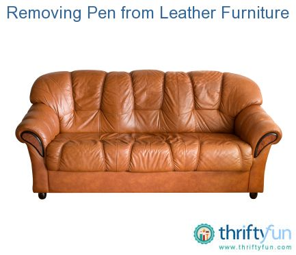 how to clean pen from leather