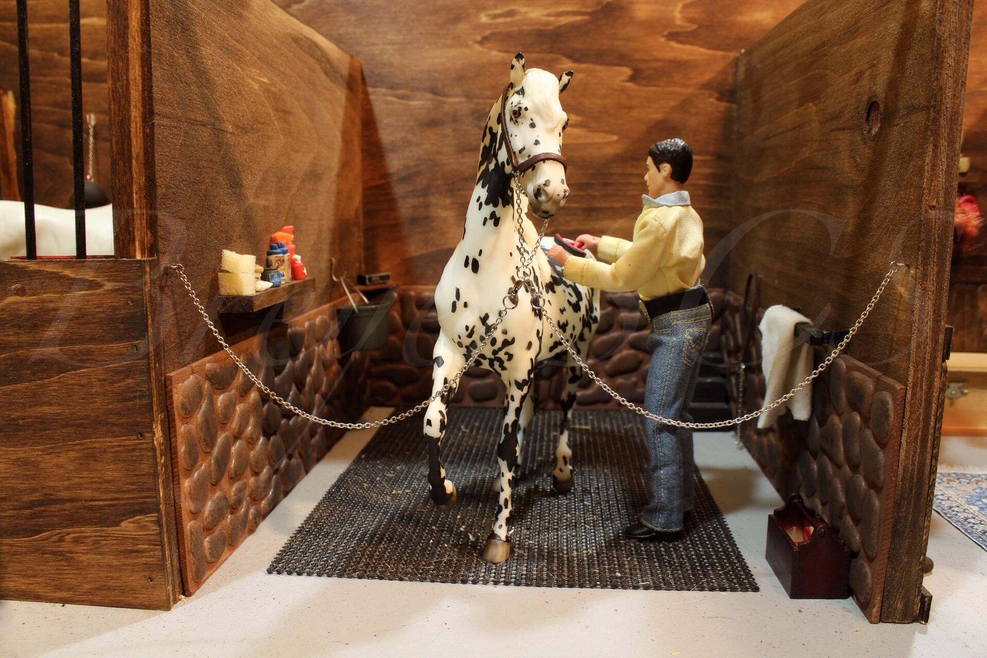 new rock walls in the was stall  toys  pinterest