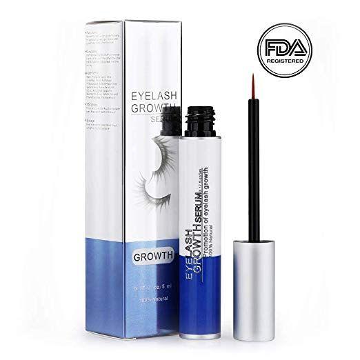 7d65e1ad06e Eyelash Growth Serum Eyebrow Lash Enhancer for Longer and Thicker Eyelash,  100% Natural,