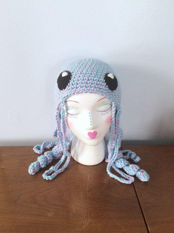 Crochet Jellyfish Hat \