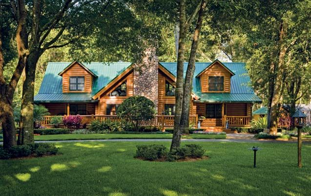 Photos Of A Custom Log Home In Rural Florida Log Cabins
