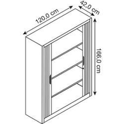 #wohnzimmer Cp Omnispace Rollladenschrank grau/grau 3 Fachböden Cpcp