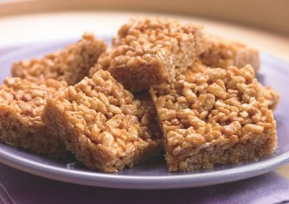 83 calories  Crispy Peanut Butter Squares from the biggest loser