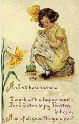 A charmingly sweet little vintage sewing poem. #vintage #sewing #crafts #poem