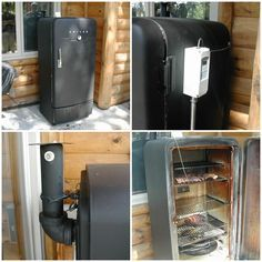 Build a meat smoker out of an old refrigerator homesteading the this do it yourself project of how to build a meat smoker out of an old refrigerator is a great way to reduce cost by using salvaged materials a fast grow solutioingenieria Images