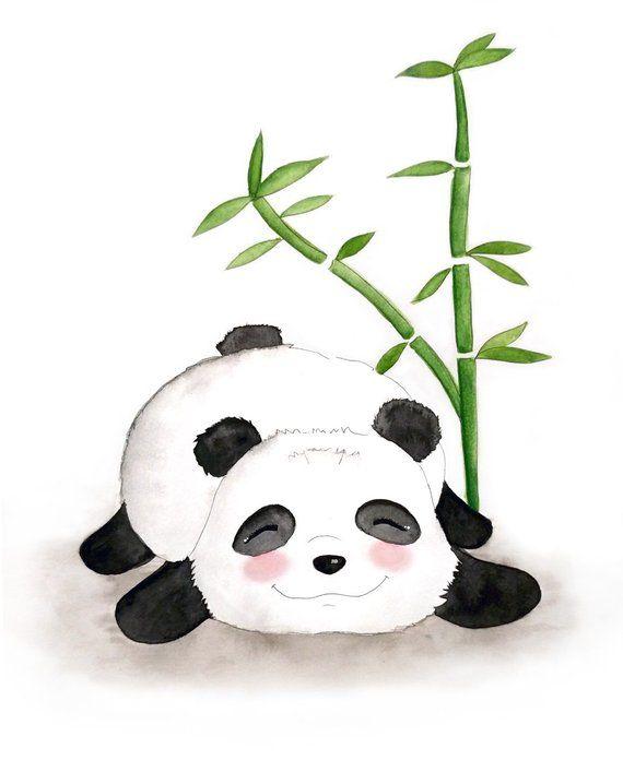картинки с пандами и бамбуком нарисована всего