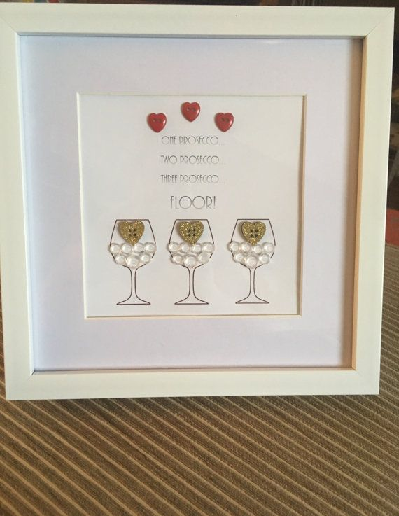 Prosecco Design Picture Frame by FayeNicholDesign on Etsy | Shadow ...