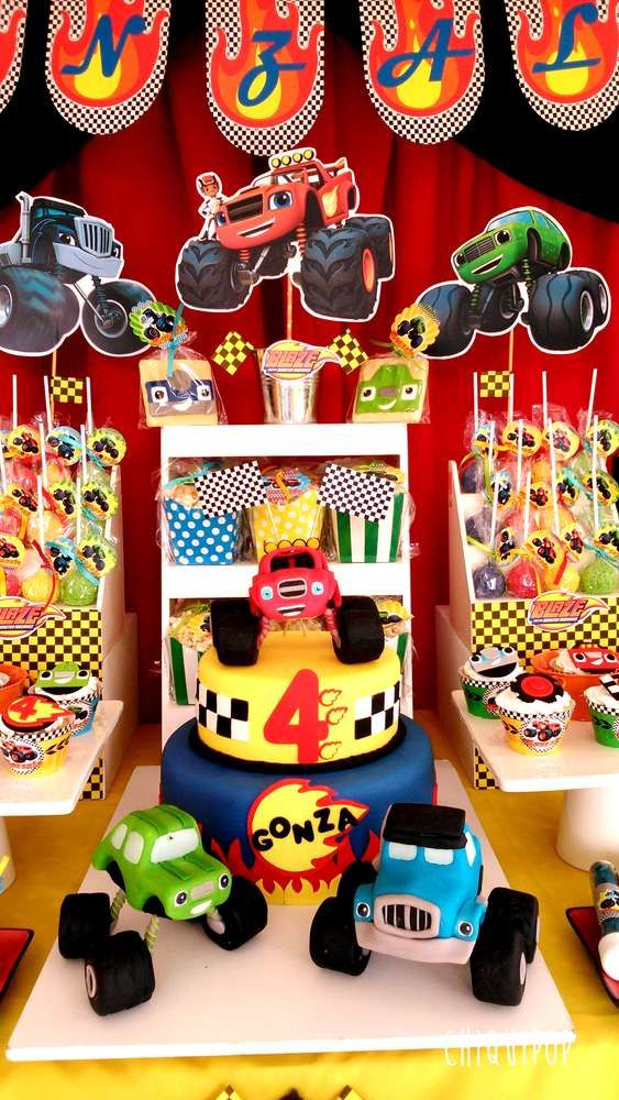 Blaze And The Monsters Machines Birthday Party Ideas In