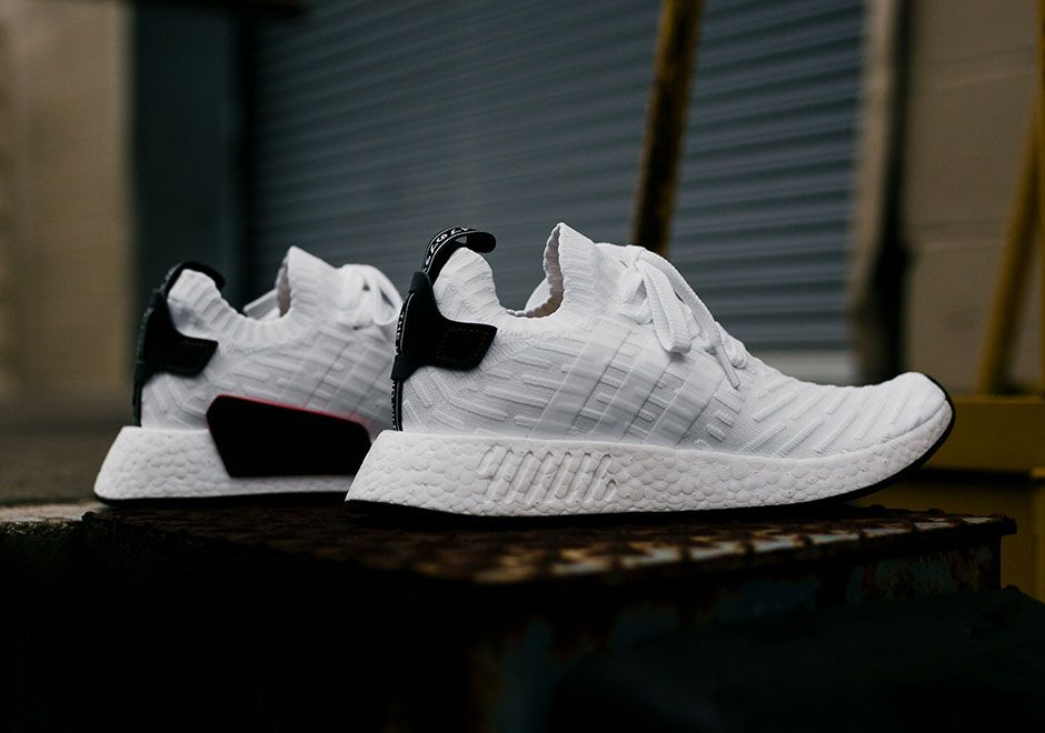 adidas NMD R2 Primeknit White Black BY3015 | Shoes | Adidas