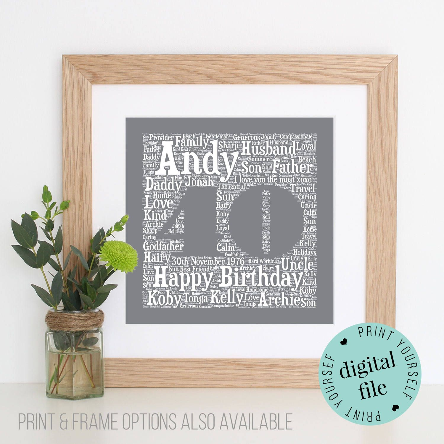 Personalised 30TH BIRTHDAY GIFT