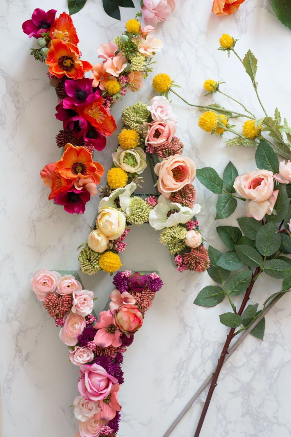 How To Floral Letter Floral Letters Flower Letters