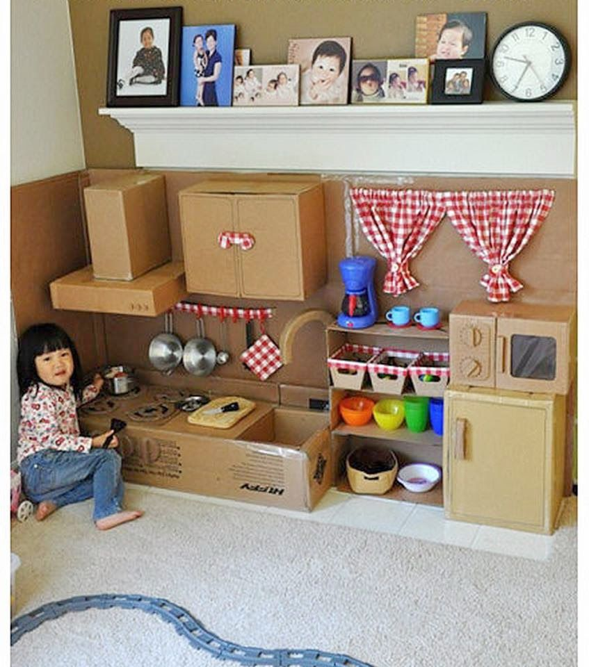 Recicla cart n y haz una cocina de juguete el mundo del for Cocina de juguete