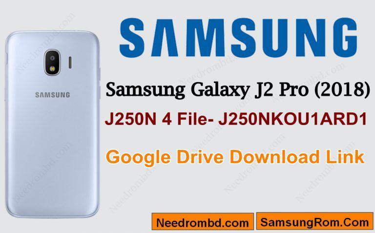 Samsung J2 Pro [J250N]-J250NKOU1ARD1 4 File | Smartphone Firmware