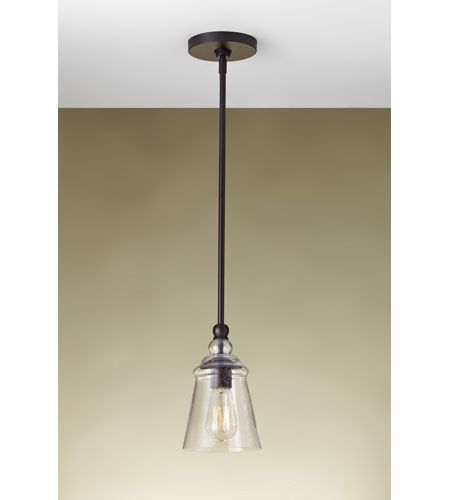 Feiss Urban Renewal 1 Light 6 Inch Oil Rubbed Bronze Mini Pendant Ceiling  Light In Standard
