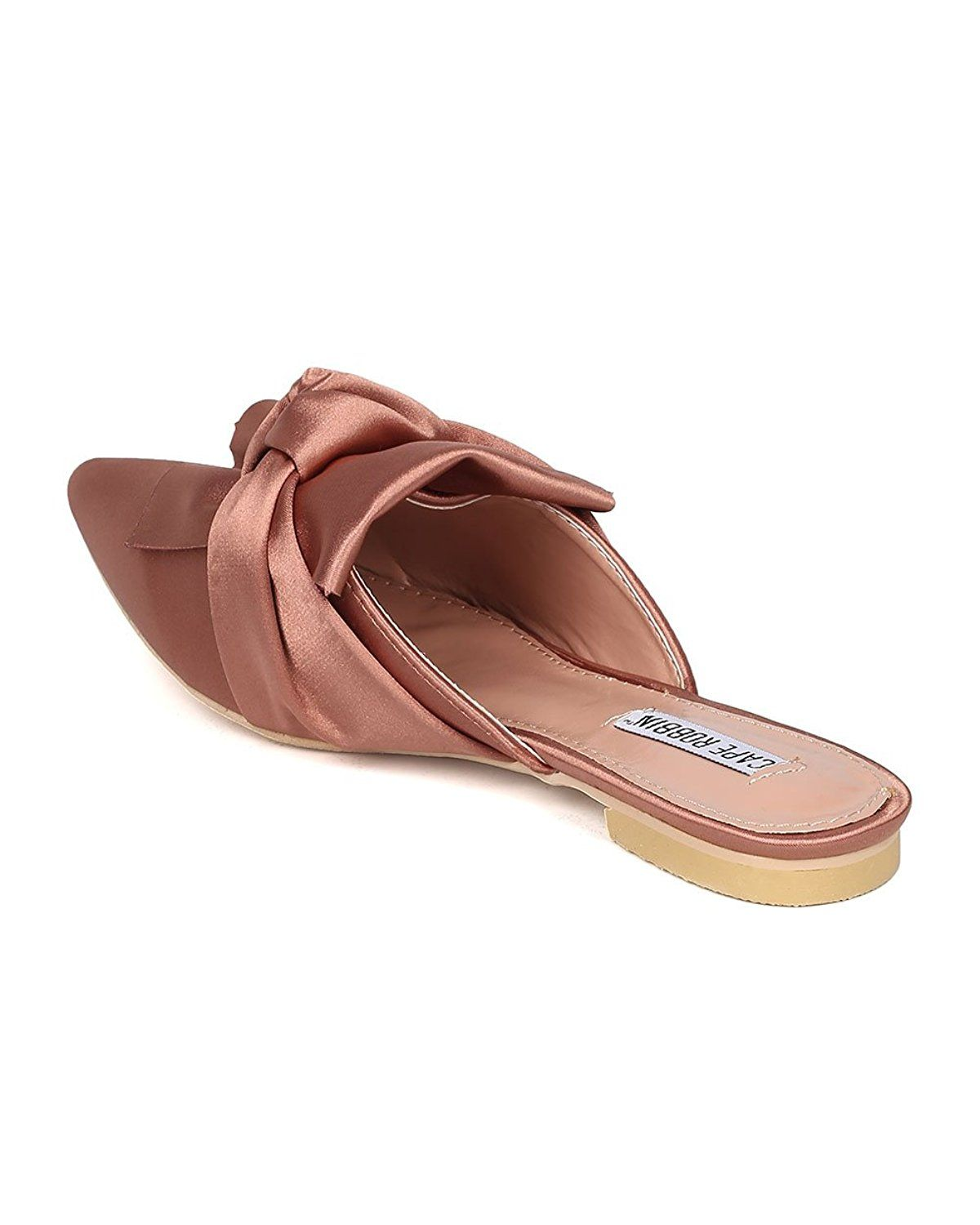 d16d6772f20b CAPE ROBBIN Women Knotted Flat Mule - Bow Slip On Sandal - Pointy Toe Slide  - HK10    Read more details by clicking on the image.  womenshoes