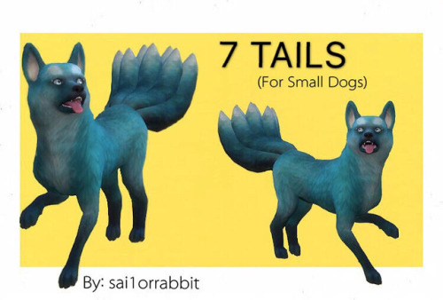 Lana Cc Finds Sai1orrabbit Ts4 7 Tails For Small Dogs Maxis