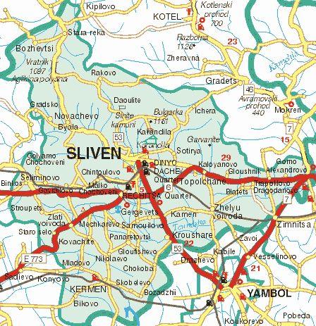 Sliven Bulgaria Tourist Map Sliven Travel Photos