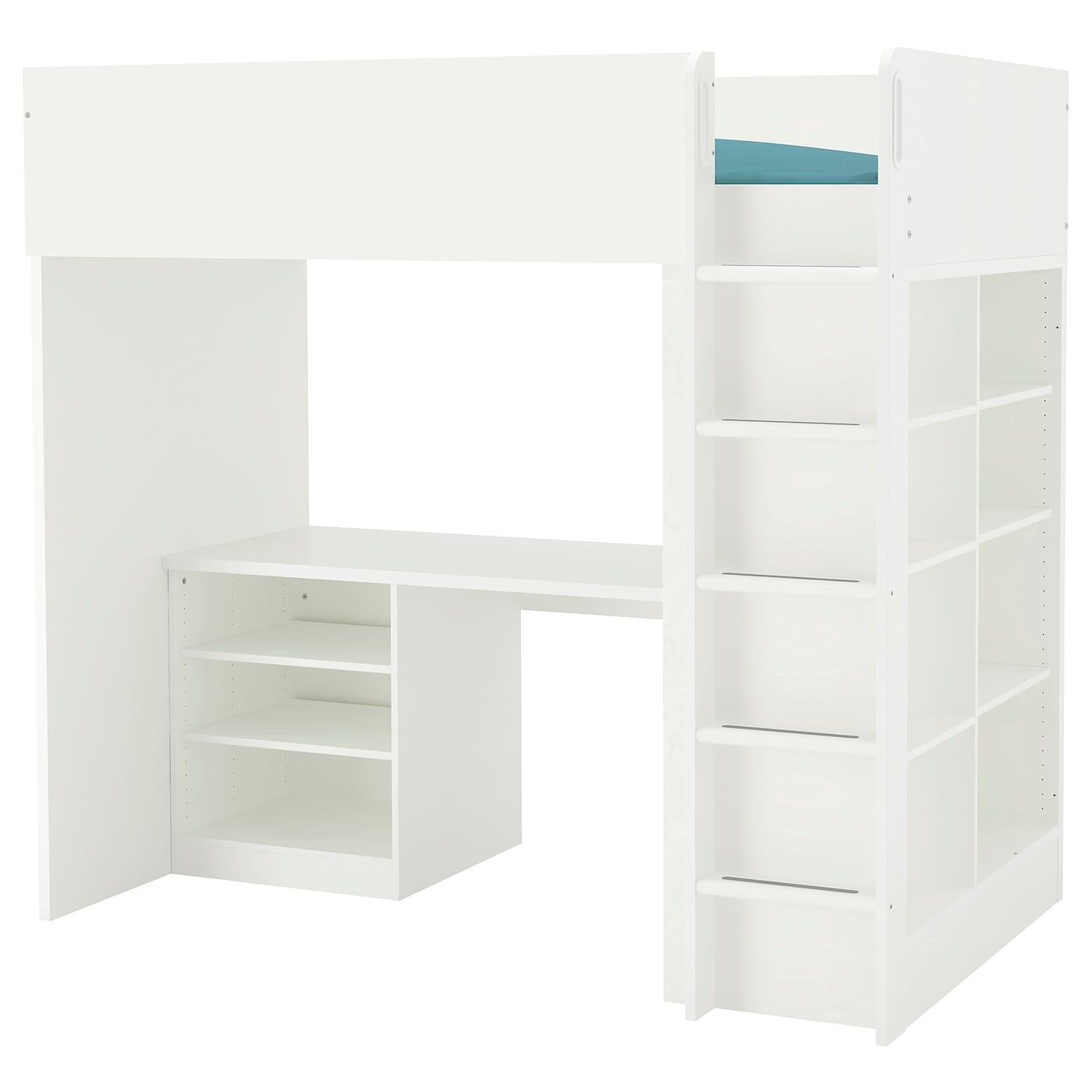 Stuva Loft Bed Combo W 2 Shlvs 3 Shlvs White Twin With Images