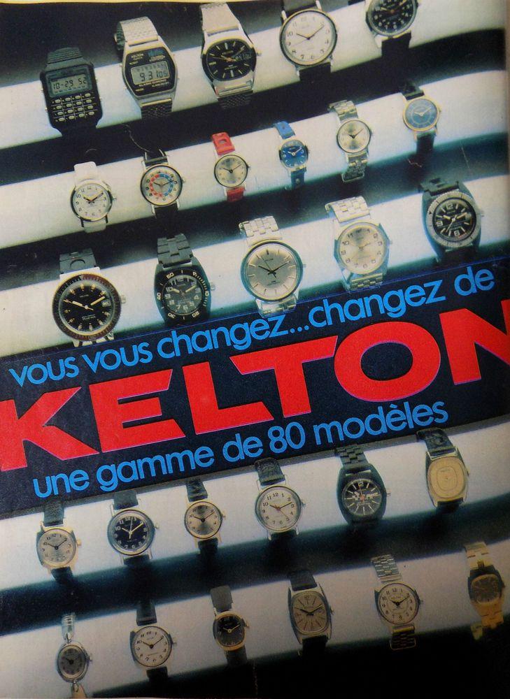 Publicité papier ; montres   kelton