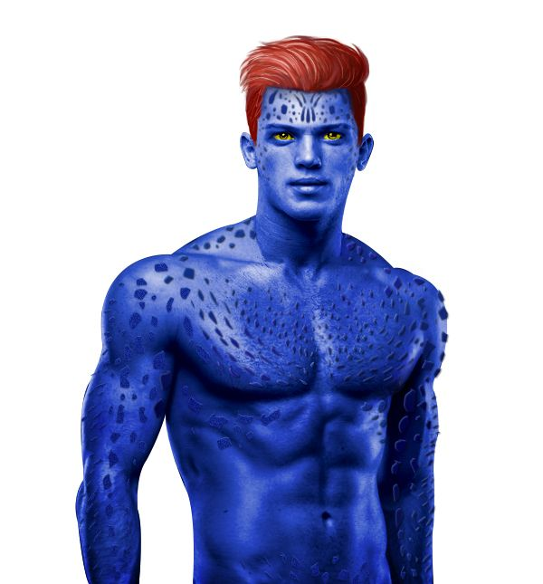 X Men Mystique Male Version By Maytha Satika Via Behance Mystique Xmen Mystique Xmen Art