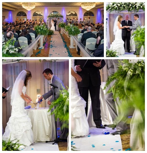 Wediquette And Parties Kelsea Ryan S Penn State Wedding Blue White Aisle
