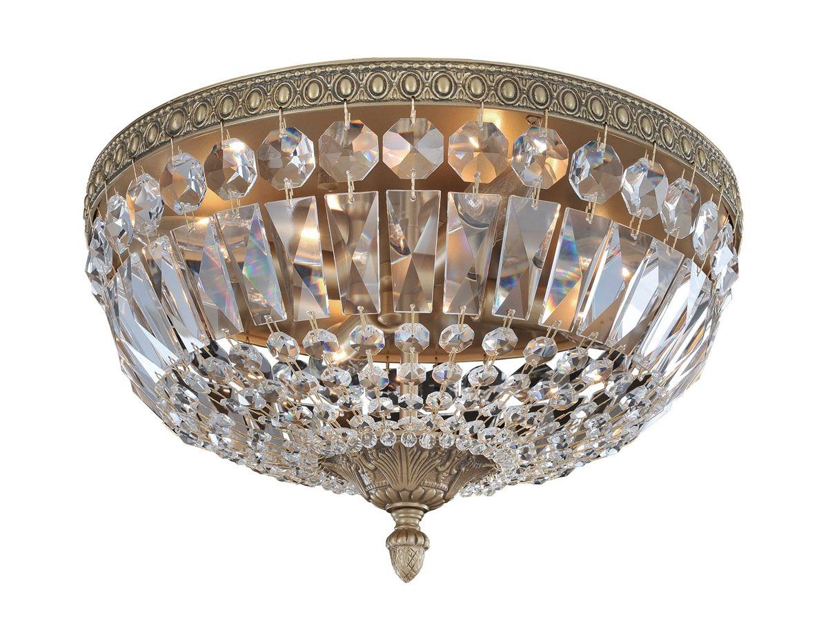 Bestier Modern French Empire Chrome Crystal Semi Flush Mount Chandelier Lighting Bestier C Led Ceiling Light Fixtures Ceiling Lights Flush Mount Chandelier