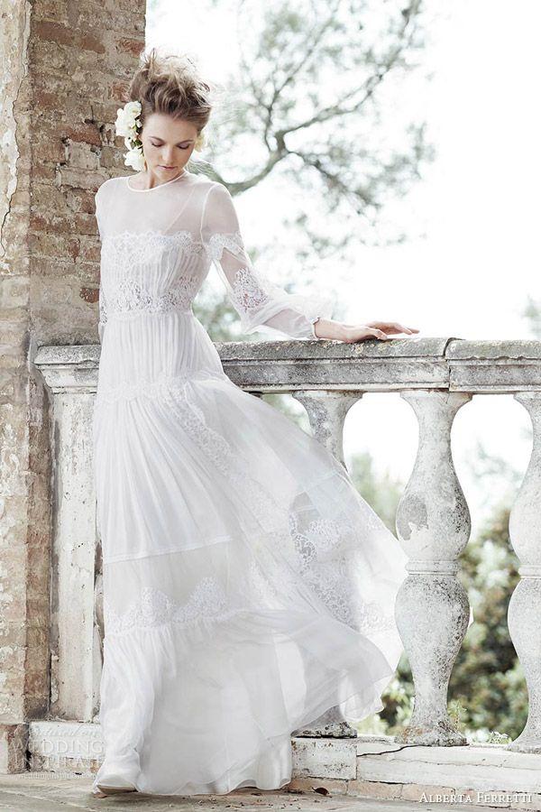 Alberta Ferretti Bridal Forever 2016 Wedding Dresses Wedding Inspirasi Wedding Dress Long Sleeve Wedding Dress Sleeves 2016 Wedding Dresses