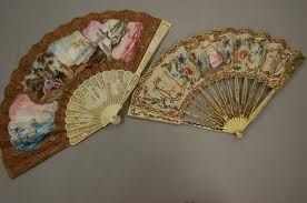 Victorian Painted Fans