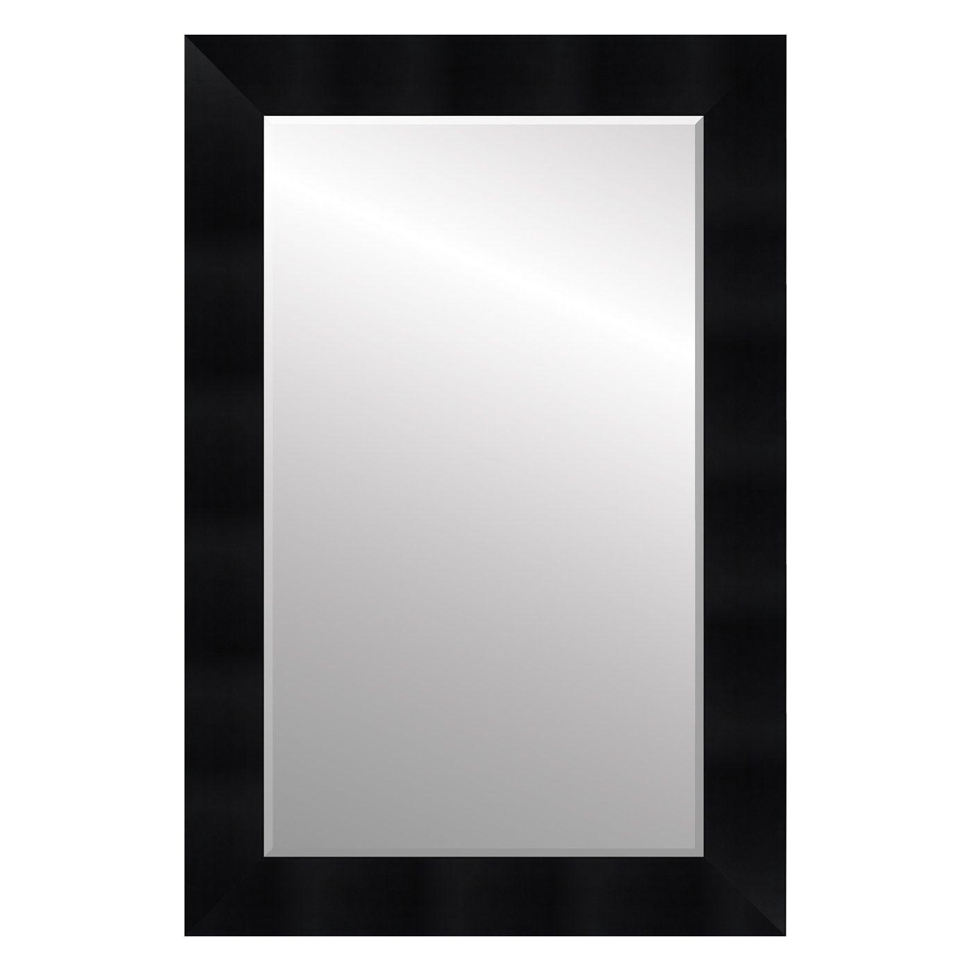 Roma 59300M Moda 3 1/4-in Satin Black Framed Wall Mirror | Lowe\'s ...