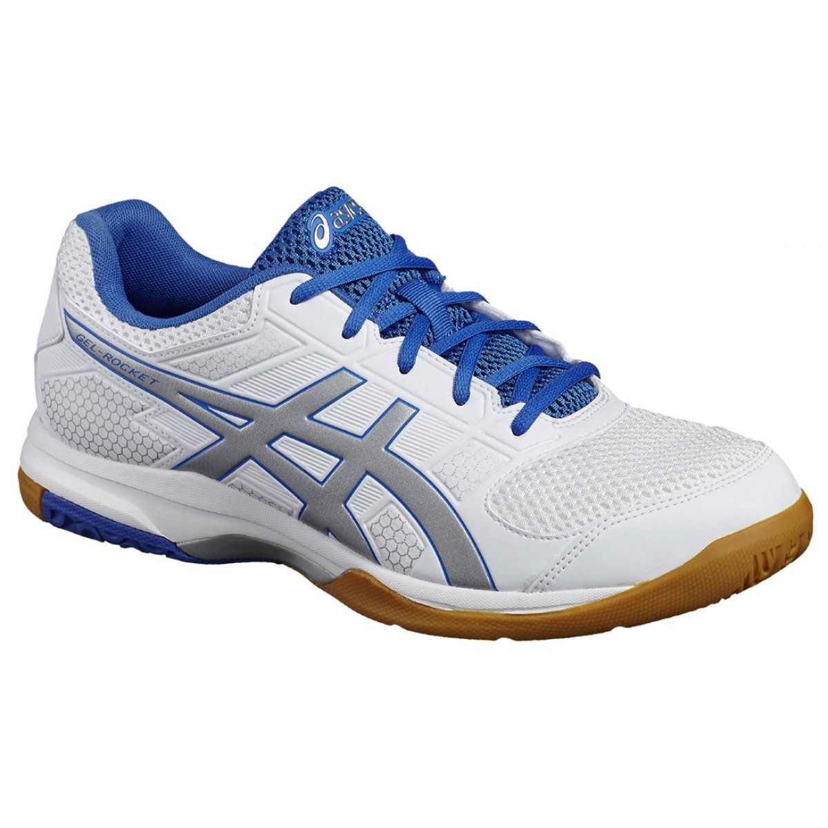 Asics Gel Rocket 8 M B706y 0193 Volleyball Shoes White White Volleyball Shoes Asics Shoes