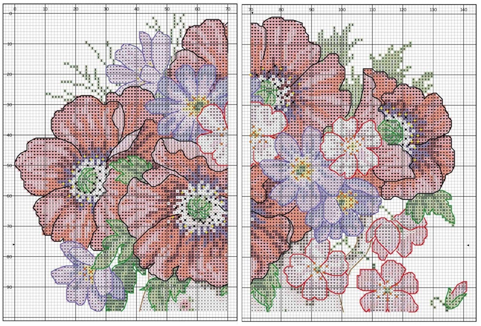 Картинки с цветами схемы