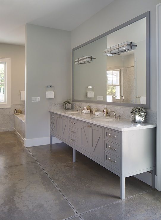 Artistic Designs For Living Bathrooms Gray Walls Wall Color Concrete Floors Stamped Bathroom G