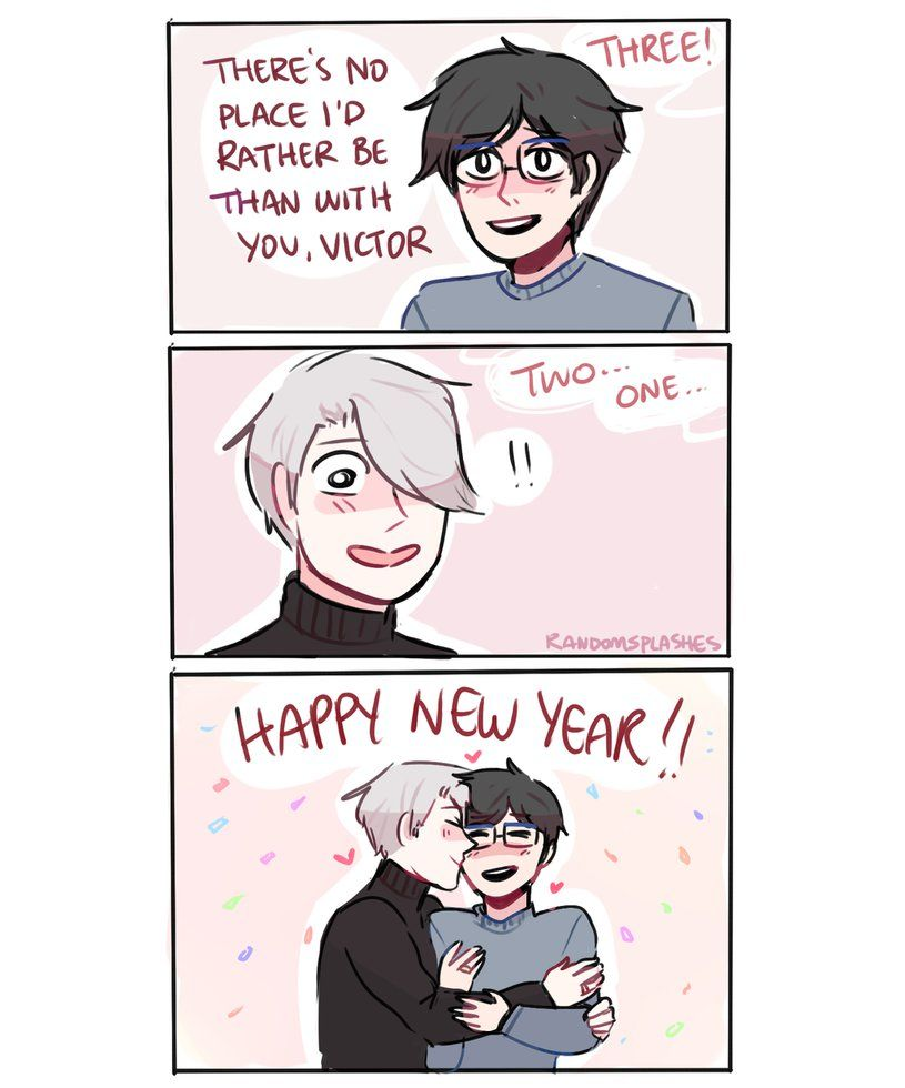 YOI: HAPPY NEW YEAR by Randomsplashes.deviantart.com on @DeviantArt