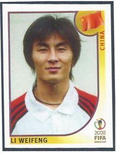 world cup panini korea japan 2002 -                 Li Weifeeng