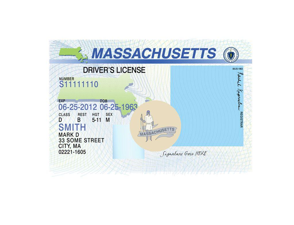 Massachusetts driver license psd template in 2020